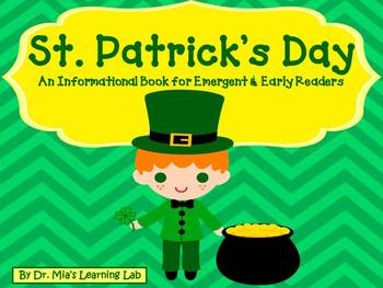 St. Patrick's Day Book (an informational book for early/em