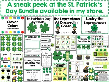 St. Patrick's Day Book Adapted Interactive Emergent Reader: SLP & Special Ed
