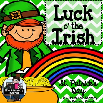 St. Patrick's Day Booklet {Ireland flag, map, Irish symbol