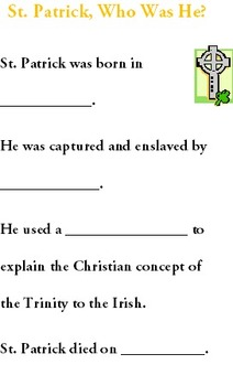 St. Patrick's Day Booklet Unit