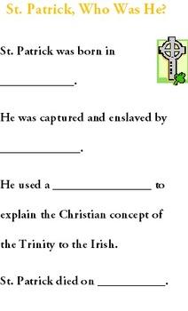 St. Patrick's Day Booklet Computer Unit