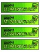 St. Patrick's Day Bookmark FREEBIE