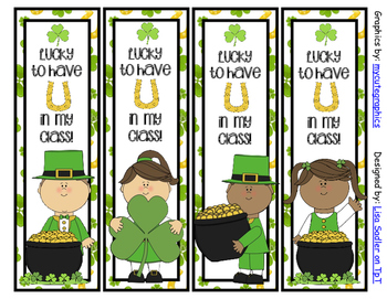 St. Patricks Day Bookmarks - 4 Designs