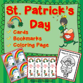 St. Patrick's Day: Cards, Bookmarks, and Coloring Pages