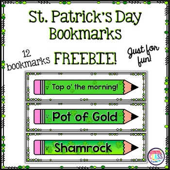 St. Patrick's Day Bookmarks (FREE)
