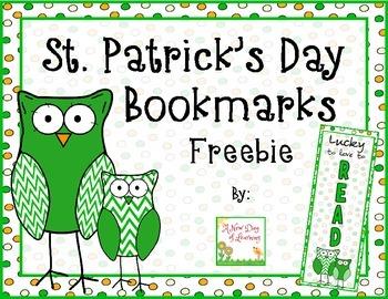 St. Patrick's Day Bookmarks - FREEBIE