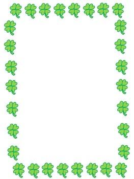 St. Patrick's Day Borders