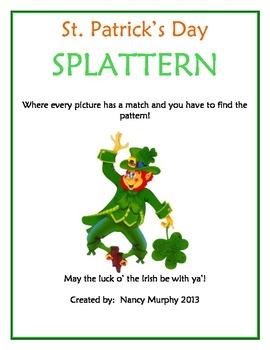 St. Patrick's Day Brain Teaser Packet-Splattern! (5 Levels)