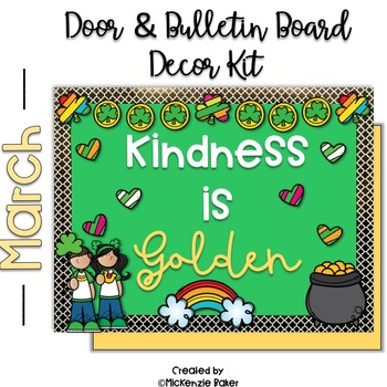 St. Patricks Day Bulletin Board and Door Decor Kit