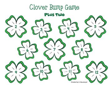 Math Fact Fluency: St. Patrick's Day Bump Games