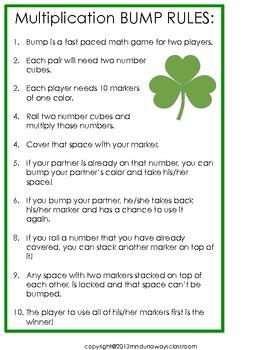 St. Patrick's Day Bump:  Multiplication
