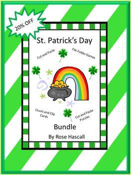 St. Patrick's Day NO PREP/LOW Prep Math and Literacy Cente