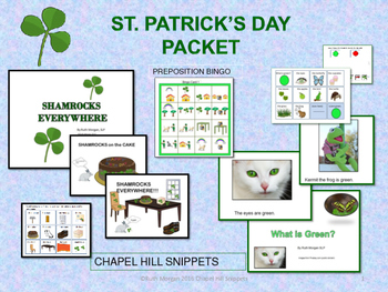 St. Patrick's Day Packet---Great for SLP/EC collaboration