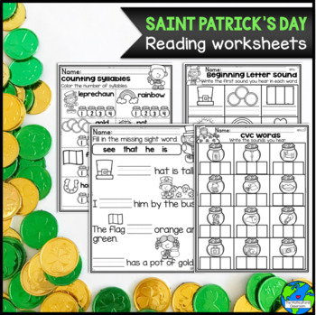 St Patrick's Day Bundle Includes packet, craft & vocabulary cards