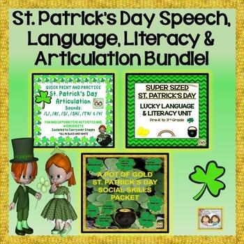 St. Patrick's Day Bundle: Speech, Language, Literacy & Articulation Bundle