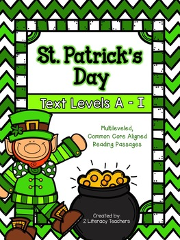 St. Patrick's Day: CCSS Aligned Leveled Reading Passages & Activities Levels A-I
