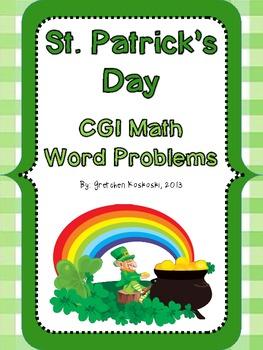 St. Patrick's Day CGI Math Word Problems