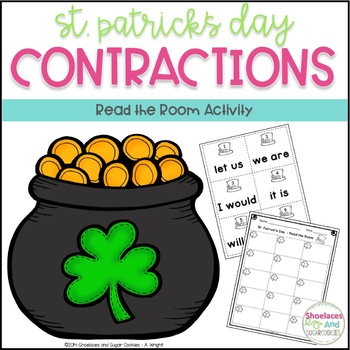 Contractions - Read the Room Activity - St. Patrick's Day
