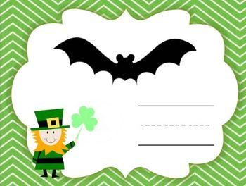 St. Patrick's Day Spelling CVC Words and Sentences (Smartboard/Promethean Board)