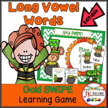 St. Patrick's Day CVCe Word Game – Gold SWIPE Game