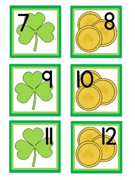 St. Patrick's Day Calendar Cards