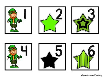 St. Patrick's Day Calendar Numbers