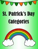 St Patrick's Day Categories