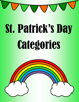 St Patrick's Day Categories