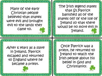 St. Patrick's Day Cause and Effect Centers Activities for Reading Comprehension
