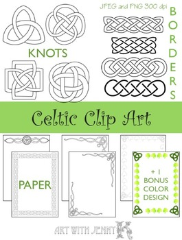 Celtic Clip Art - Great for St. Patricks Day