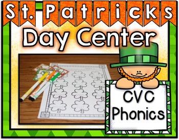 St. Patrick's Day Center ~ CVC Phonics