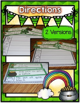 St. Patrick's Day Center ~ Sentence Fixing