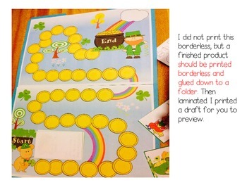 St. Patrick's Day CenterGame *Phonics & (with options) K - 1st Grade