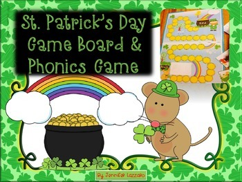 St. Patrick's Day CenterGame *Phonics & (with options) K -