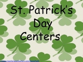 St. Patrick's Day Centers: (3) fact families, short and long vowels, sight words