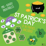 St Patricks Day Centers Preschool Pack
