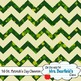 St. Patrick's Day Chevron Digital Papers
