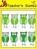 FREE St. Patrick's Day Chevron Owl Clipart