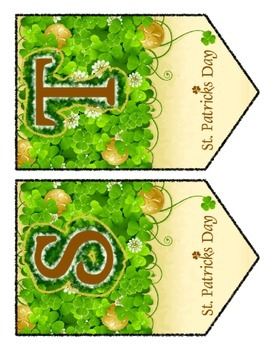 St. Patrick's Day Chevron Pennant - Any Message All Letters & Numbers Included