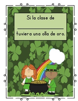 St. Patrick's Day Class Book/ Porfolio Page (Spanish)