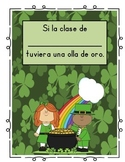 St. Patrick's Day Class Book/ Porfolio Page (Spanish)