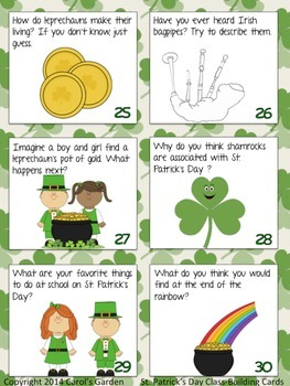 St. Patrick's Day Class-Building Cards