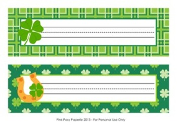 St. Patrick's Day Classroom Decor Desk Name Plates