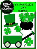 St. Patrick's Day ClipArt {Texas Twist Scribbles}