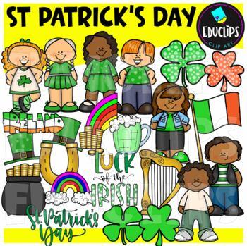 St Patrick's Day Clip Art Bundle {Educlips Clipart}