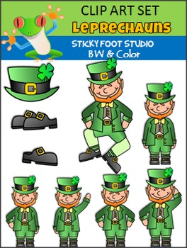 St. Patrick's Day Clip Art Bundle (Sticky Foot Studio)