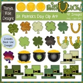 St. Patrick's Day Clip Art {Color & Black Line Images Included}