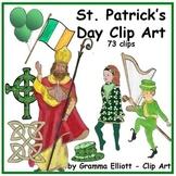 St. Patrick's Day Clip Art  Realistic Leprehaun St Patrick Irish Knot Cross