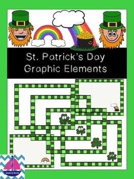 St. Patricks Day Clip Art & Frames FREEBIE
