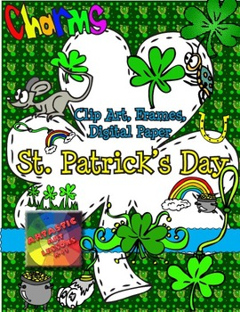St. Patrick's Day Clip Art, Boarders and Digital Paper